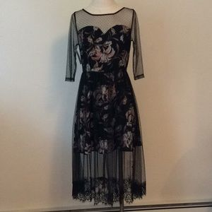 Soieblue Cocktail Dress - Floral and Lace
